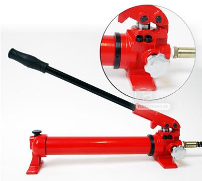 Verin hydraulique avec pompe a main