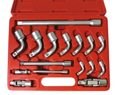 Embout clé à pipe PK17 en coffret 17 pièces