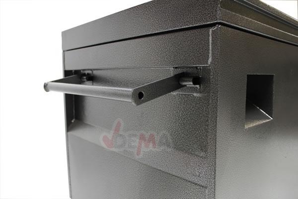 Coffres de chantier acier verrouillable-lot de 3 coffres