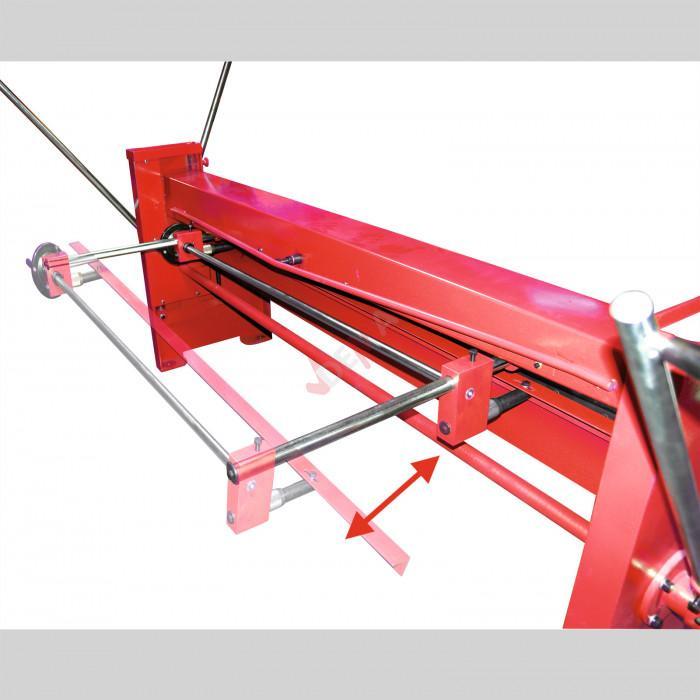 Cisaille à tôle 2000 x 1,25 mm - manuelle