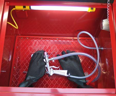 Cabine de sablage 90 L + Compresseur bi-cylindre 230 V