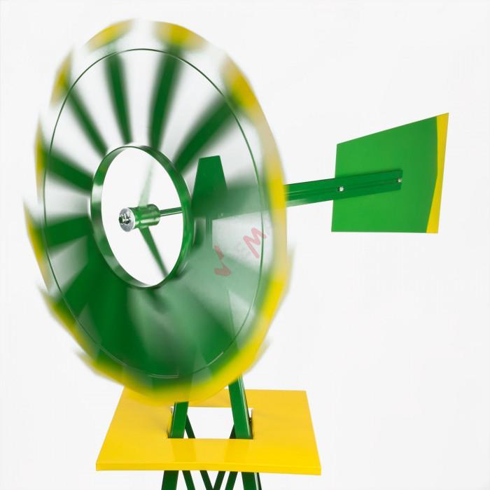 Deko Vent - 550 mm - vert - éolienne style US pour jardin