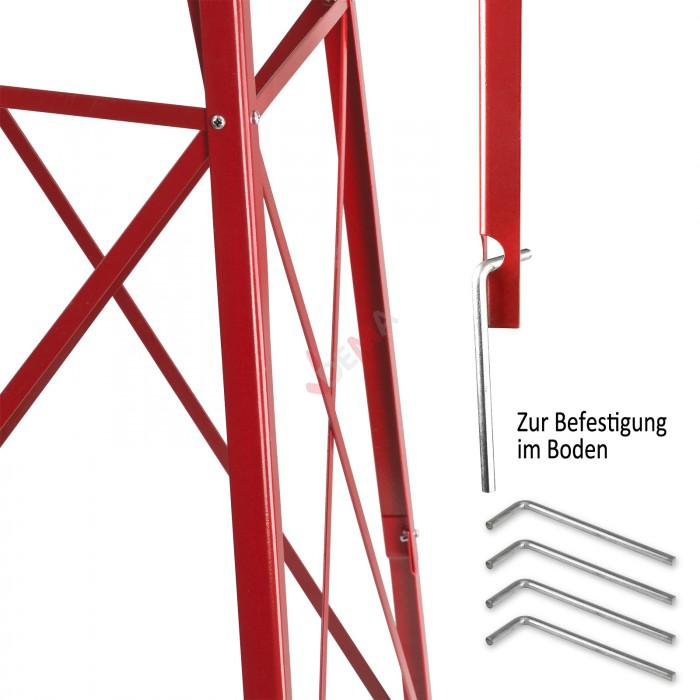 Deko Vent - 550 mm - rouge et jaune - éolienne style US pour jardin