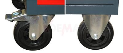 Etabli mobile - Servante 4 tiroirs + étagères 1280 x 600 x 850 mm