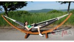 Support hamac - 400 cm - bois - navire - 2 personnes - charge 300 kg