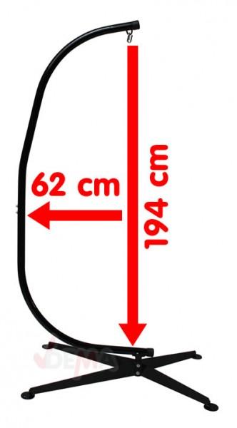 Support hamac siège suspendu acier - charge 150 kg