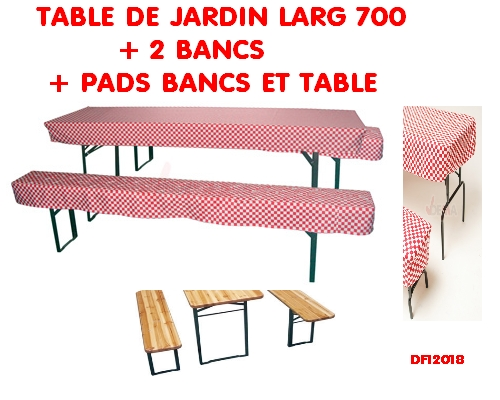 table et banc de jardin 2 bancs pads table et bancs plein air camping. Black Bedroom Furniture Sets. Home Design Ideas