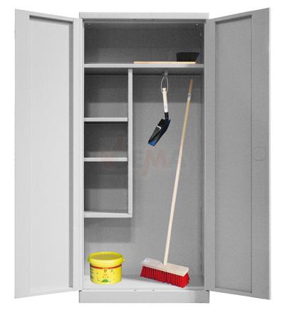 armoire pour produits d 39 entretien et ou vestiaire grise. Black Bedroom Furniture Sets. Home Design Ideas