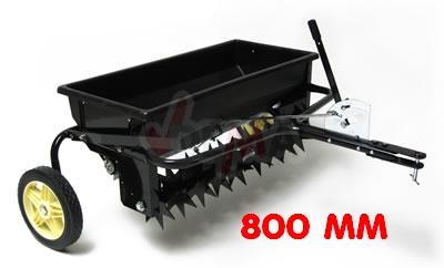 Aérateur scarificateur + épandeur 800 mm - petits tracteurs ou quads