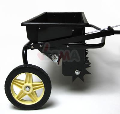 Aérateur terrain + épandeur 800 mm - petits tracteurs ou quads