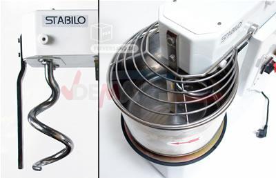 Pétrin professionnel - Bol acier inoxydable -16 L