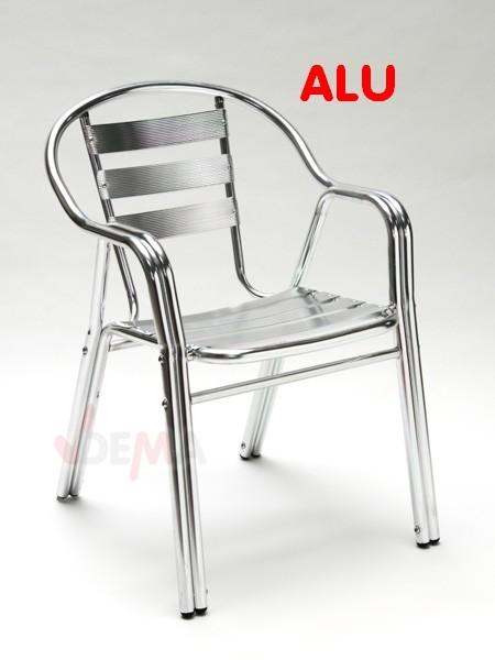 Salon de jardin aluminium table carrée 80cm+4 chaises alu mobilier lot