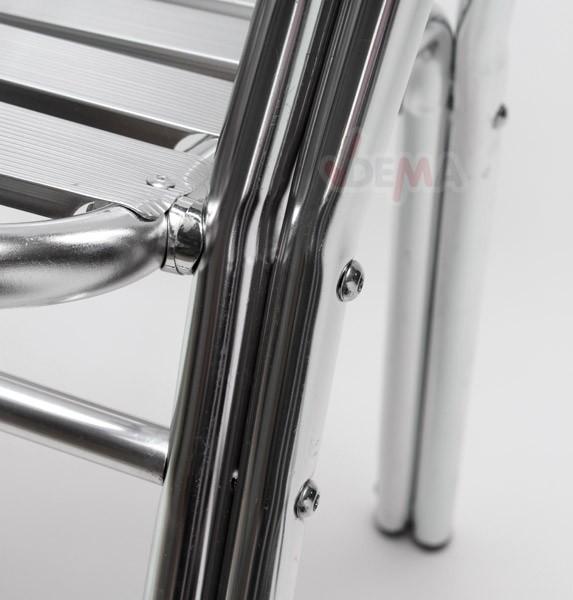 Salon De Jardin Alu Carree ~ Salon de jardin aluminium table carrée 80cm+4 chaises alu mobilier
