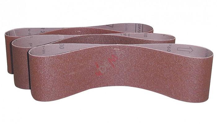 Lot de 3 bandes abrasives K 80/100/120 pour G55135