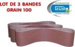 Bandes abrasives K100 pour ponceuse à bande lot de 3 - pour G55135