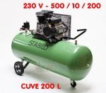Compresseur 200 L bi cylindre