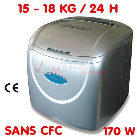 Machine à glaçons - 15 à 18 kg/24 H - 170 W