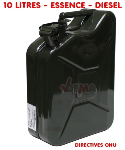 Jerrican de type US 10 litres