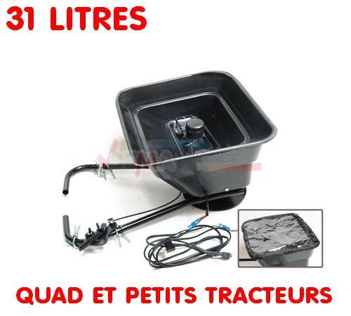 Epandeur sel - engrais - pour petits tracteurs ou quad - 31 litres