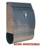 Boite aux lettres acier brossé inoxydable avec porte journaux