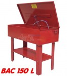 Fontaine de nettoyage pièces mécaniques bac 150 L int 1060x520x270 mm