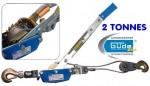 Tire-câble - Treuil manuel 2 T