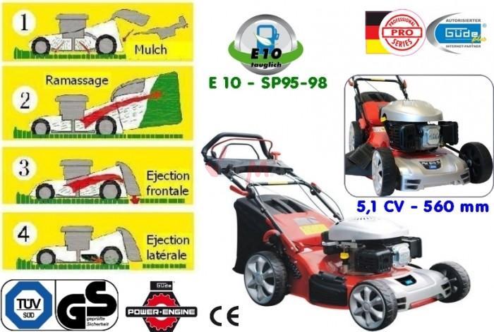 G de tondeuse mulching 4 en 1 5 1 cv 560 mm pm560d - Tondeuse autoportee mulching ...