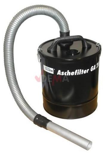Filtre à cendres pour aspirateur 20 L cendres froides cheminées