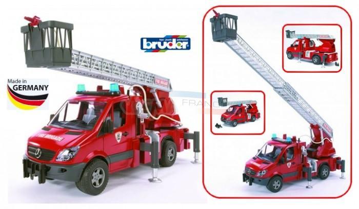 Mercedes Bruder Sprinter Camion de pompier son et lumière pompe à eau