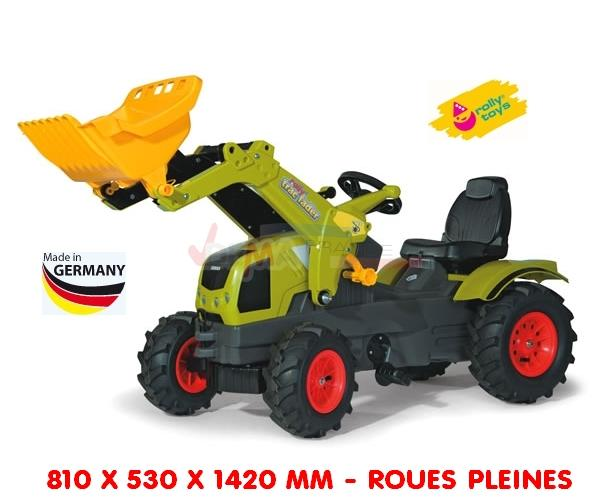 ROLLY TOYS - Tracteur à pédale - avec pelleteuse - roues pleines