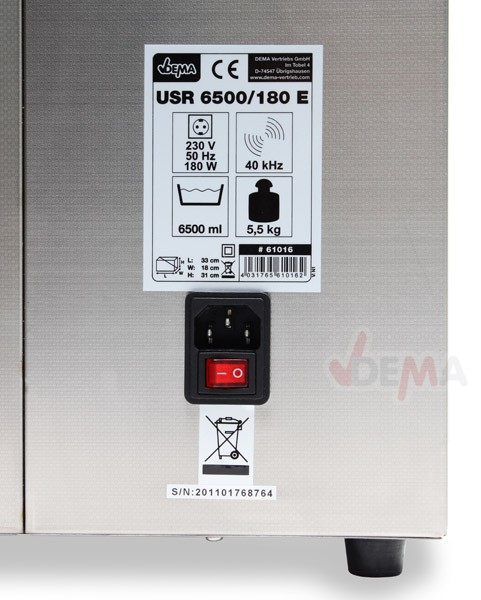 Nettoyeur ultrasons chauffant 6,5 L - USR 6500