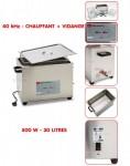 Nettoyeur ultrasons chauffant + vidange  30  L - UR30L/H