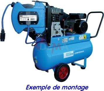 Enrouleur de tuyau pneumatique automatique 8 m rotation 180 13 bar toute la gamme guede - Enrouleur air comprime ...