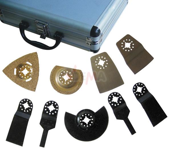 coffret 9 accessoires pour outil multifonction et universel outillage fournitures. Black Bedroom Furniture Sets. Home Design Ideas
