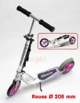 Trottinette HUDORA MC purple-white - roues Ø 205 mm