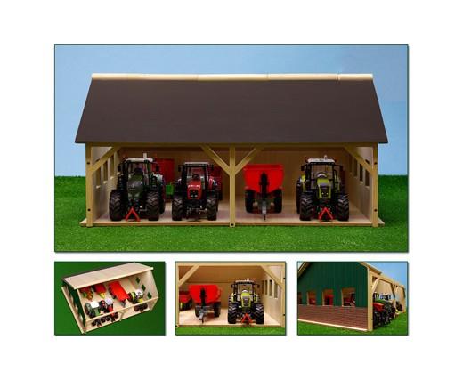 Hangar agricole sans tracteur 560 x 280 x 445 mm - 6 pièces