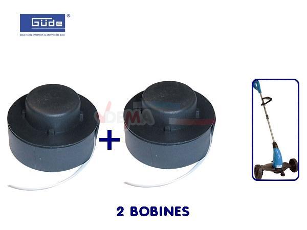 GÜDE -  2 bobines de rechange pour coupe bordure électrique