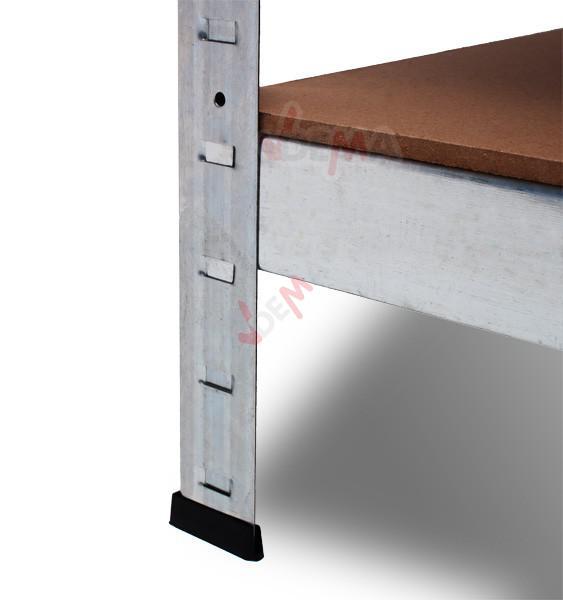 Etagère galvanisée 5 rayonnages bois charge lourde - 875 kg