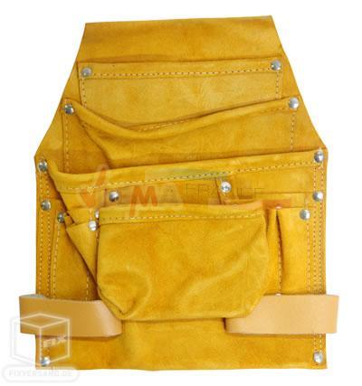 Porte outils de ceinture - 4 poches cuir de vache épais
