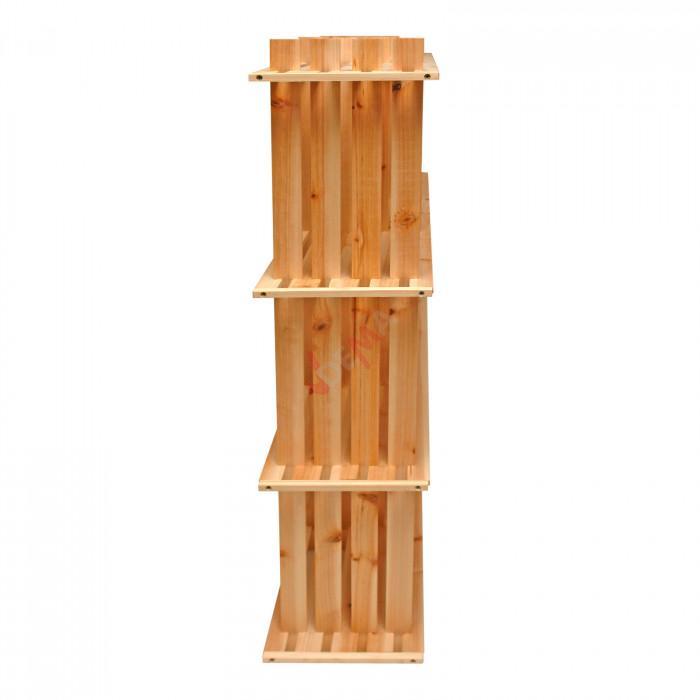 Etagère en bois - 9 casiers - pin massif