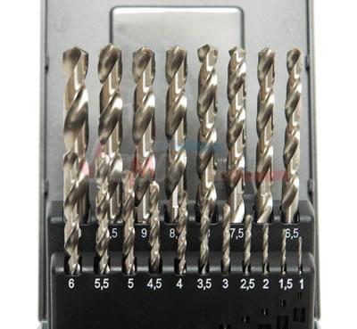 Forets HSS DE 1-10 MM - 19 pièces