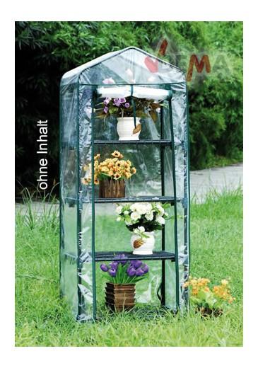 Serre pour plantes 4 tablettes 690 x 490 x 1570 mm