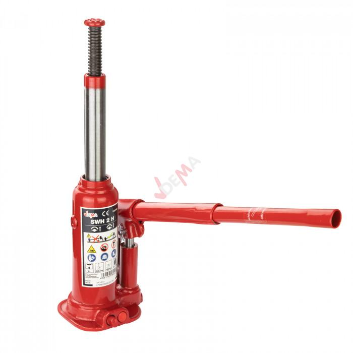 Cric bouteille 2 T hydraulique usage vertical