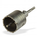 Trépan SDS Plus 65 mm filetage M22 haute vitesse matériaux durs