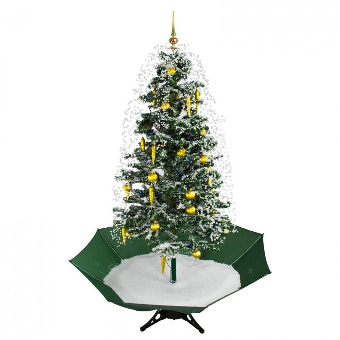 Sapin de Noël artificiel - neige en circuit fermé - musique 1450 mm