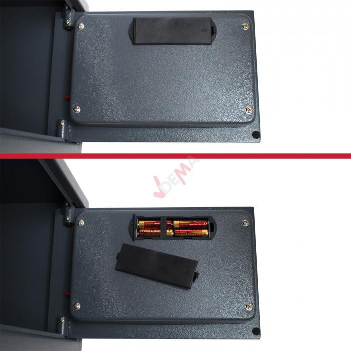 Coffre fort de bureau 350 x 250 x 250 mm - avec ancrages - 22 L