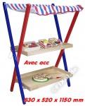 Marchande en bois / Stand  fruits et légumes enfants