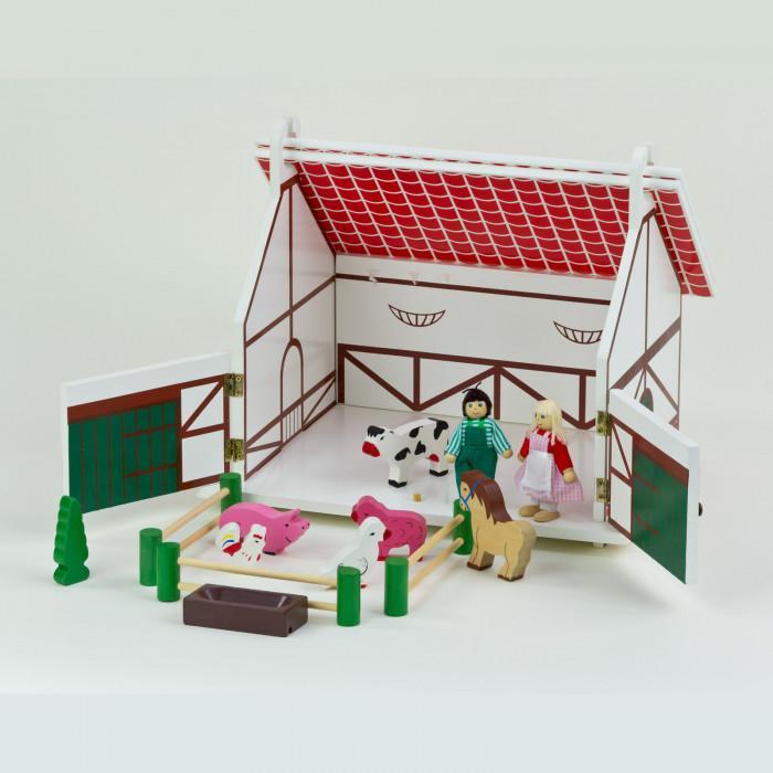 ferme en bois avec accessoires jouets en bois. Black Bedroom Furniture Sets. Home Design Ideas