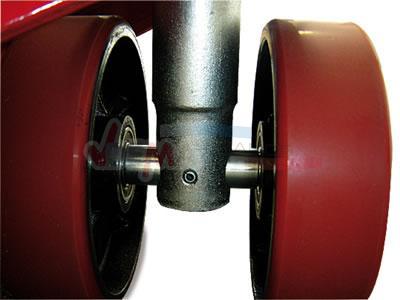 Transpalette 2 Tonnes - levée rapide PU - acier tubulaire
