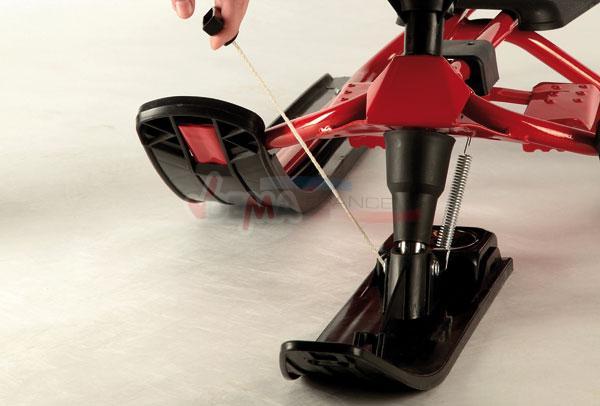 Luge traîneau pour enfants armature solide - système de pilotage